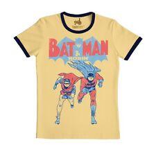 Comics-gc-súper héroes-Batman & Robin-slimfit t-shirt, beige-tractor ®