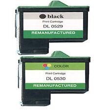 2 Non-OEM For Dell T0529 & T0530 Ink Cartridges Black Colour