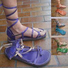 Cuir Moyen âge gladiateur sandale sandals Goa latex romains 38 39 40 41 42 43