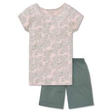 SCHIESSER Mädchen Schlafanzug kurz Jersey Palmen-Muster apricot Tropical Vibes