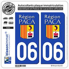 2 Stickers autocollant plaque immatriculation : 06 PACA LogoType