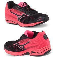 Mizuno Wave Sayonara 3 Running Entrenamiento Zapatillas Negro / rosa neón