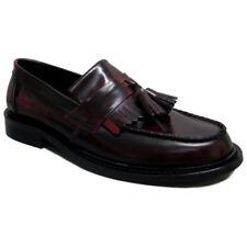 Mens IKON Selecta Mod, Skin, Ska Tassle Slip On Loafers/Shoes Oxblood  7 - 12