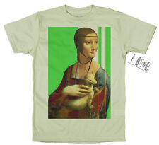 LADY con un ERMINE-Leonardo Da Vinci MAGLIETTA disguido Design