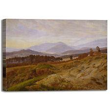 Caspar montagna a Riesengebirge quadro stampa tela dipinto telaio arredo casa