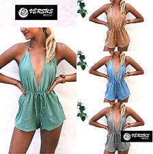 Tuta Pantaloncini Donna Copricostume - Woman Mini Jumpsuit Cover up 660030