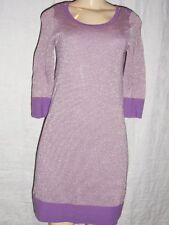 Madeline knit Dress by Cardigan Amethyst Gold Metallic Merino Wool Sz Small NWT