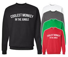 Coolest Monkey in the Jungle Sweatshirt. Unisex adult sweater. S-4XL