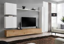 Wohnwand Anbauwand Schrankwand Hängewohnwand TV Board Nila2 Hochglanz Set 21