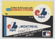 1986 Fleer #MON.1 Montreal Expos (Pennant) Baseball Card