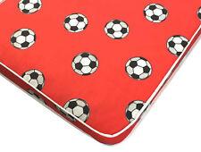 Kids boys football red spring mattress  - 2ft6,3ft,4ft,4ft6,5ft,6ft