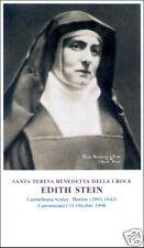 SANTINO HOLY CARD TELA CANVAS SANTA EDITH STEIN TERESA BENEDETTA DELLA CROCE