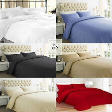 New Luxury 100% Stripe TC200 Egyptian Cotton Duvet Cover Pillow Set All Sizes
