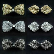 Men High Quality Luxury Shining Crystals Bowtie Rhinestone Wedding Bow Ties