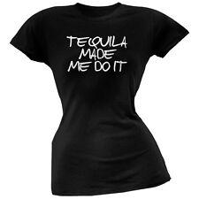 Cinco de Mayo - Tequila Made Me Do It Black Juniors Soft T-Shirt
