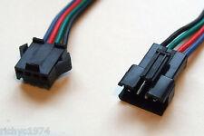 4 WAY PIN COLOURED CONNECTORS WIRING KIT CAR LED SMD XMAS LIGHTS EXTENSION KIT