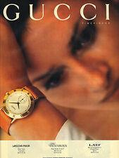 PUBLICITE ADVERTISING  1994   GUCCI  montre