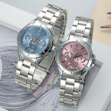 CHENXI reloj analógico de mujer en acero plateado movimiento de cuarzo con caja