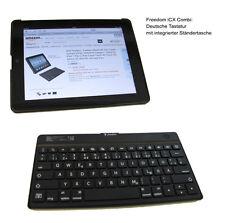 Bluetooth Tastatur deutsch f Apple ipad 2 3 G QWERTZ v Freedom iCX Combi Tasche