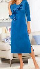 Caftan ~ peignoir ~ robe royal-Bleu pannesamt 56//58 60//62 64//66 Nouveau