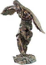 "12"" Native American Indian Dancing Eagle Warrior Faux Bronze Statue Sculpture"