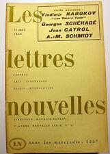 NABOKOV/CAYROL.../NADEAU/LETTRES NOUVELLES/1959/N°11