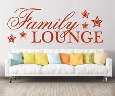 X4575 Wandtattoo Spruch Family Lounge Familie Sticker Wandaufkleber Wandsticker
