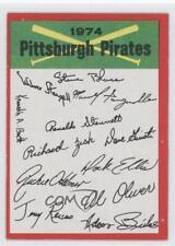 1974 Topps Team Checklists #PIPI Pittsburgh Pirates Baseball Card