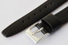 17mm BLACK  Leather Watch Strap, Genuine Calf, VERY POPULAR. Soft Lining L2