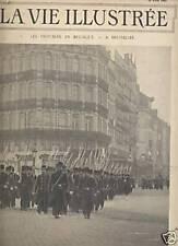 LA VIE ILLUSTREE 1902 N 183 LES TROUBLES EN BELGIQUE
