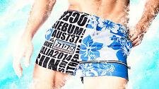 AussieBum Swimmers MEN SHORT SWIMWEAR SURFWEAR RETRO STYLE BLUE Size S M L XL