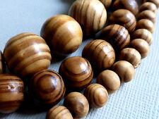 Holzperlen Kugel rund braun Maserung 6 - 16mm Auswahl 1284