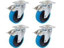 Blue Wheel Bockrolle Lenkrolle Lenkrolle mit Bremse 80 100 125 160 200 mm Bockrolle 80 mm