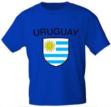 Laender Kinder T-Shirt Gr. 80 - 152 Wappen Aufdruck URUGUAY 76179