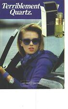 PUBLICITE ADVERTISING 1985  MOLYNEUX parfum  QUARTZ femme
