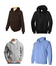 Jerzees Men's Zip Up Hoodie 8oz Black, Blue, Gray, Brown, Size M L XL 2XL NEW