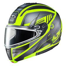 HJC Modular Gallant Helmet w/ Dual Lens - Hi-Viz- All Sizes