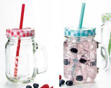 Trinkgläser mit Deckel und Strohhalm SUMMER FUN 450 ml