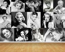 Hollywood Film Star Greats Wall Art Wall Mural Self Adhesive Vinyl Wallpaper*