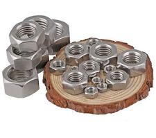 12-100 PCS 304 Stainless Steel DIN934 Hex Nuts M1.0 M1.2 M1.4 M1.6 M2-M10 M12