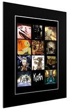 MOUNTED / FRAMED PRINT kORN ALBUM DISCOGRAPHY  - ROCK POSTER GIFT ARTWORK