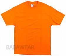 6 Shirts AAA Orange Plain T-Shirt High Visibility Safety Alstlye Apparel BABA