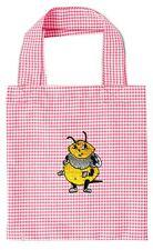 Sac Enfant en coton tissu rose avec broderie petite abeille 12348