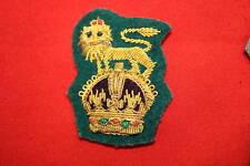 BRIGADIER COMMANDO RANK WW2 CAP BADGE BULLION WIRE