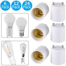 6/12/24-pack GU24 to E26/E27 Adapters Convert Fixture to Standard Bulb Socket