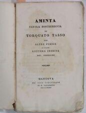 1835 TASSO AMINTA FAVOLA BOSCHERECCIA LETTERE INEDITE