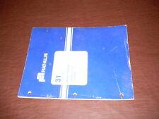 FIAT-ALLIS 31 CRAWLER TRACTOR STEERING CLU  BOOK MANUAL