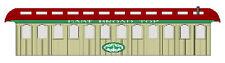EAST BROAD TOP EARLY COACH Model Railroad On30 Laser Unptd Quik-Kit DFEBT01