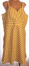 New Dudley Woman 1X 2X 3X empire waist sleeveless striped linen blend sun dress