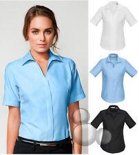 Ladies Short Sleeve Shirt Size 6 8 10 12 14 16 18 20 22 24 Stripe Business New